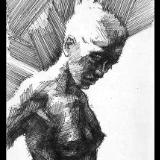 sketch 057  (sketch of a Richard Macdonald sculpture)